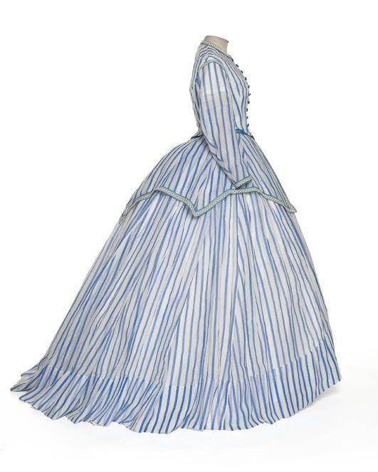 Robe à transformation, 1868-72  From LES ARTS DECORATIFS. Love stripes.