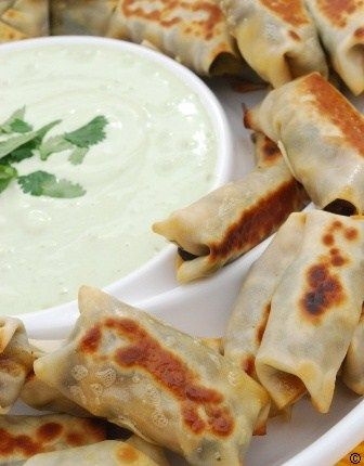Chilis-southwestern-egg-rolls-with-avocado-ranch.-Baked-not-fried-Yum #best recipe to try