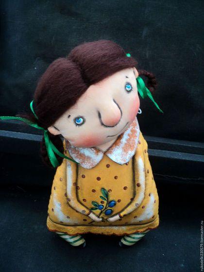 Коллекционные куклы ручной работы. Ярмарка Мастеров - ручная работа. Купить Куколка Черничка ll.. Handmade. Желтый, в…