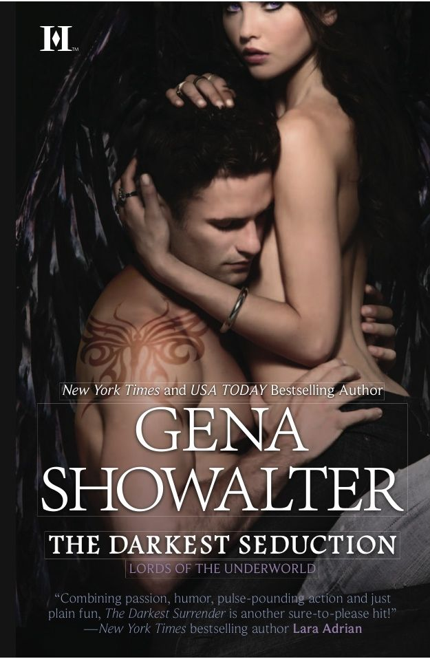 The Darkest Seduction by Gena Showalter, book 11 in the Lords of the Underworld series.    In this book, we are Paris, who is possessed by the demon of Promiscuity, is brought together with Sienna Blackstone, who is newly possessed with the demon of Wrath.