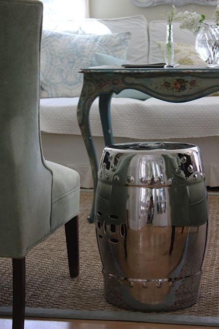 Mix it up! Antique and modern give a room soul. New chrome garden stool & 113 best Speakeasy images on Pinterest | Restoration hardware ... islam-shia.org