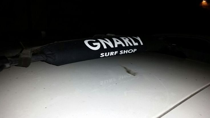 Gnarly surfboard roof rack