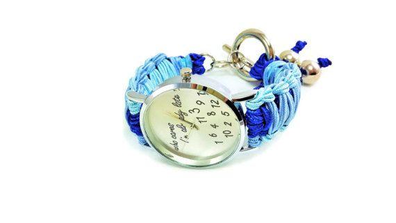 Who cares I'm already late watch  Wristwatch by HarmonyHourWatches