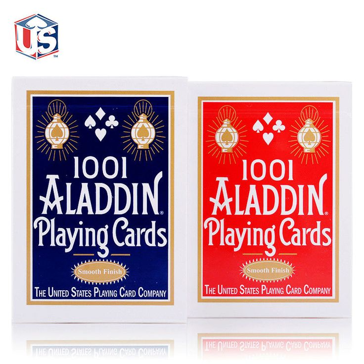 1 Deck Smooth 1001 ALADDIN Playing Cards Red or Blue Magic Card Poker Magic Collectible Deck Magic Tricks Props for Magician #Affiliate