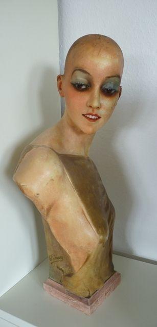 French Wax Mannequin, signature Pierre Imans, Paris, 1920s – Christine Strobl