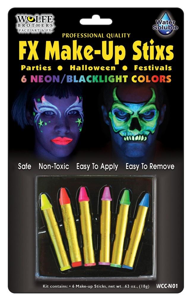 Neon Makeup Sticks Wolfe Bros