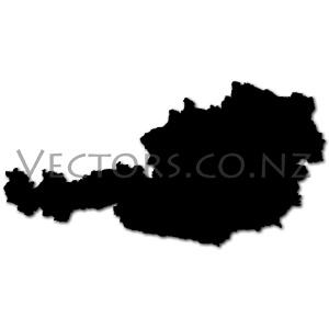 Blank Vector Map of Austria