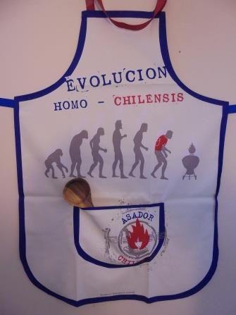 Delantal Evolucion Homo Chilensis | www.losparrilleros.cl