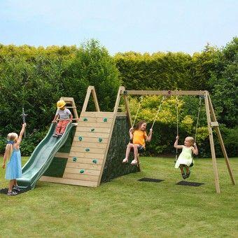 Plum Climbing Pyramid Play Centre with Swings | Plum Climbing Frames
