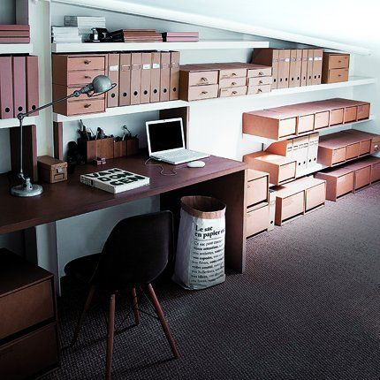 Un bureau organisé