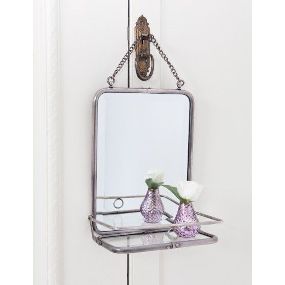 Folding French mirror