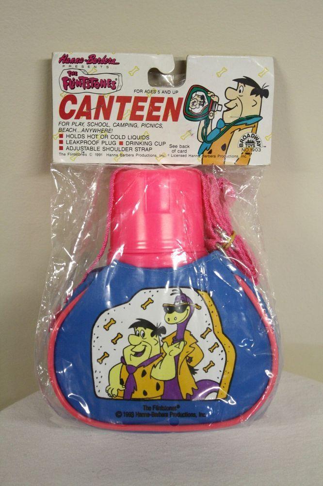 Fred Flintstones Dino Toy Canteen Hanna Barbera Plastic 1991 Retro Rare #BroadwayToys