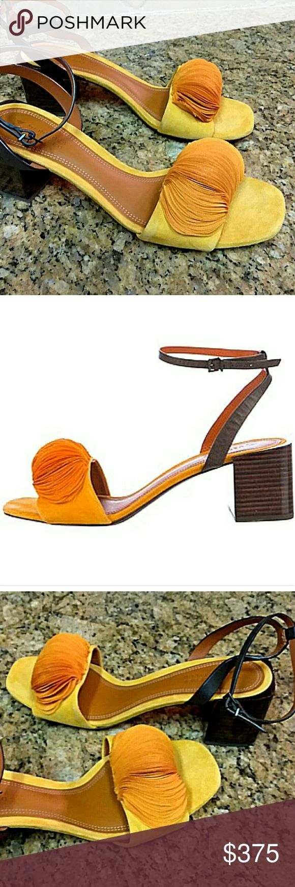 Mercedes Castillo 2017 Olenna sandals All purchase is shipped with a gift   Brand new mustard yellow elegant yet comfortable sandals. True to size  Retails for $475 no low blow offers pls. No box or dust bag but will be shipped with a dust bag in a box  Checkout other listings featured in this post MERCEDES CASTILLO Shoes Sandals