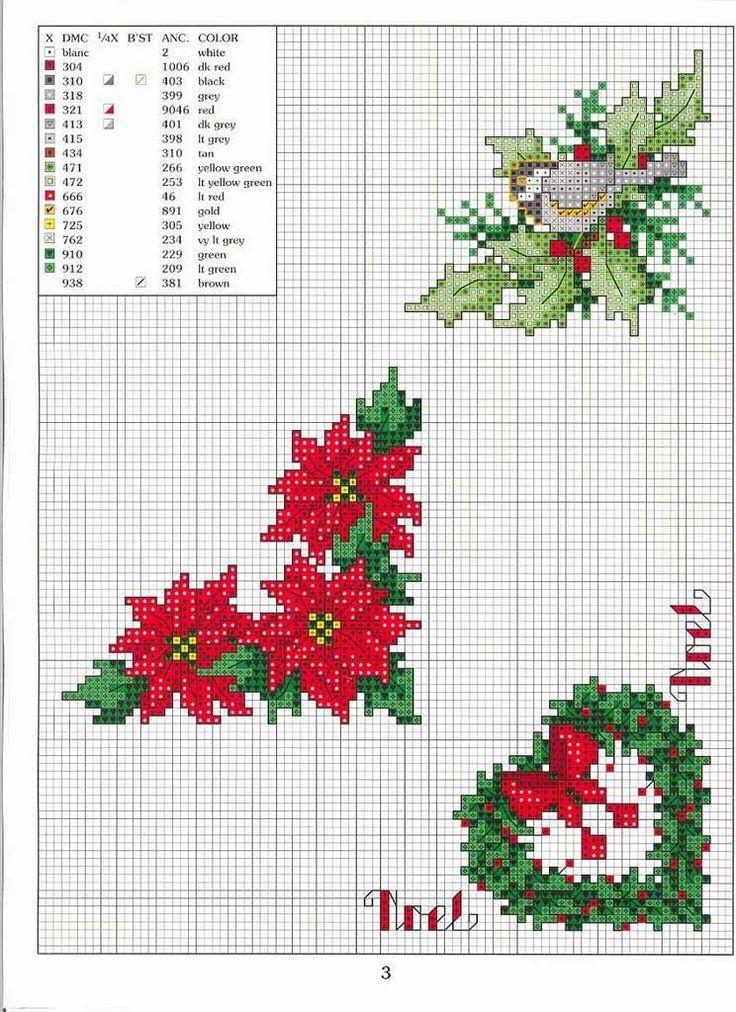 Preparando la navidad, esquemas gratis en punto de cruz de Navidad                   manteles navidad punto de cruz. cruz para navidad...