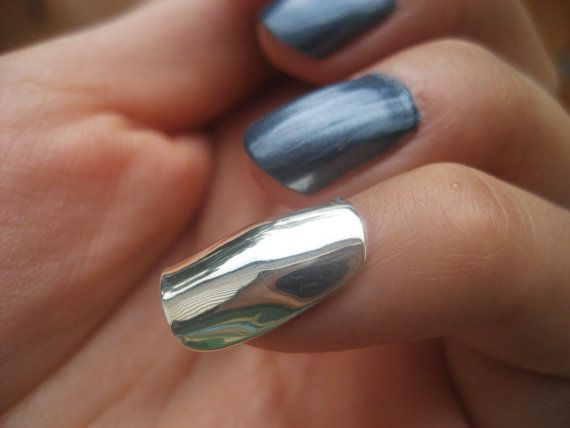 Armor, Sterling Silver, Reuasable Finger Nail, Nail Jewelry, Nail Art, Statement, Nail Polish