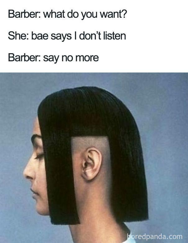 Say No More Haircut Terrible Haircuts Epic Fails Funny Memes