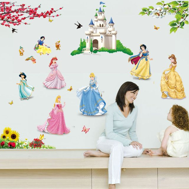 Good price 3D Snow White Princess Wall Sticker Cartoon Castle for Girls  Vinyl Wall Sticker Home Decor Snow White Princess Children Room   just only $4.52 with free shipping worldwide  #wallstickers Plese click on picture to see our special price for you