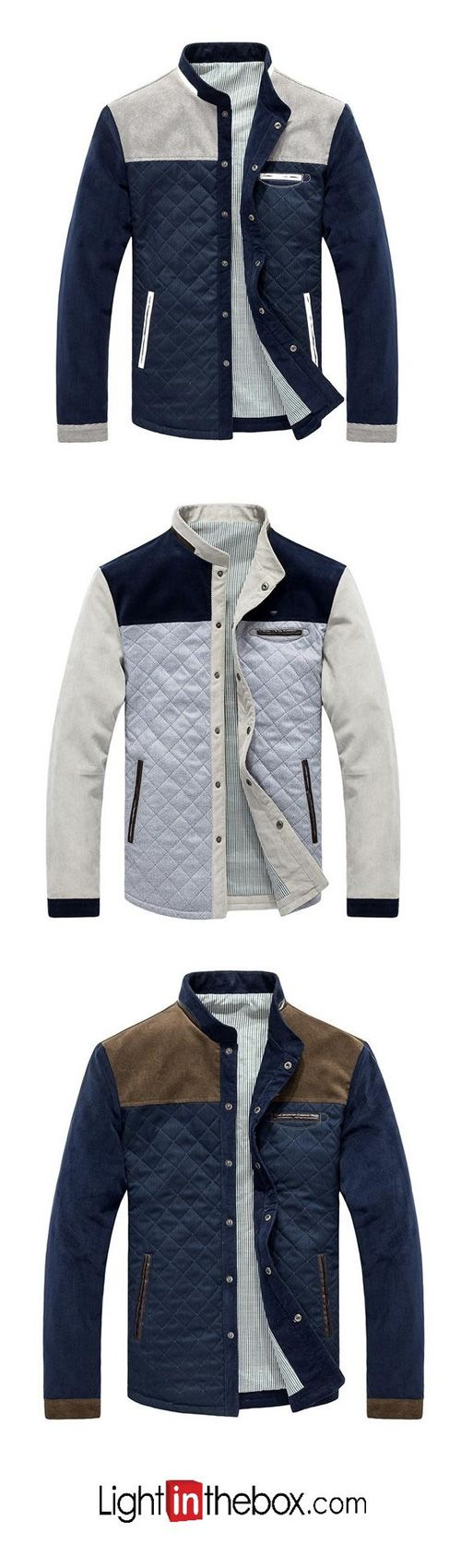 Men's Casual/Daily Simple Spring Fall Jacket