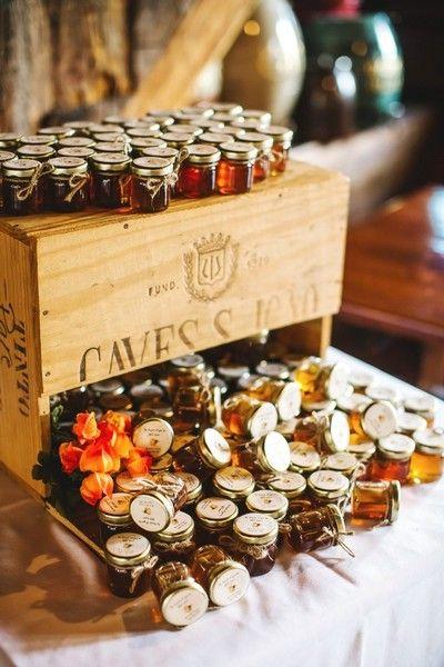 Handmade wedding favor idea - jars of honey {Lena Mirisola Photography}