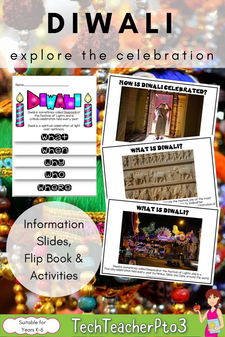 Celebrate Diwali with these colourful student activities for your primary classroom. Explore the history of the festival through your social studies lesson with an easy to use flip book and information slides to guide you through. #diwali #teacherspayteachers #socialstudies #history #geography #teacher