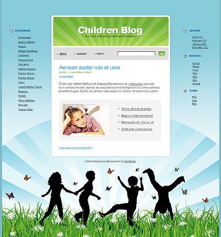 Childreb Blog WordPress Themes by Di