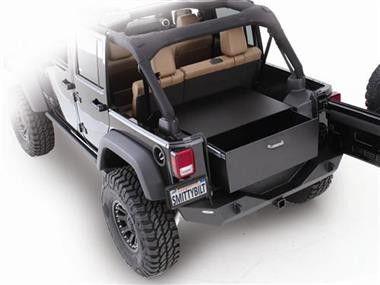 Rear Lockable Storage Box Jeep 07-11 Wrangler (JK) 2 & 4 Door