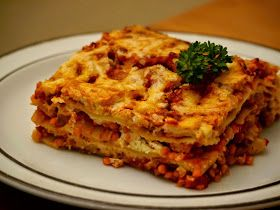 Paradiesfutter: Rote Linsen Bolognese Lasagne