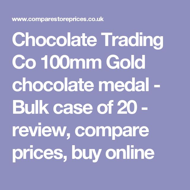 Chocolate Trading Co 100mm Gold chocolate medal - Bulk case of 20  - review, compare prices, buy online