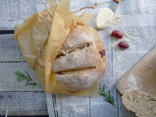 Rosemary Olive Peasant Bread | Food | Pinterest