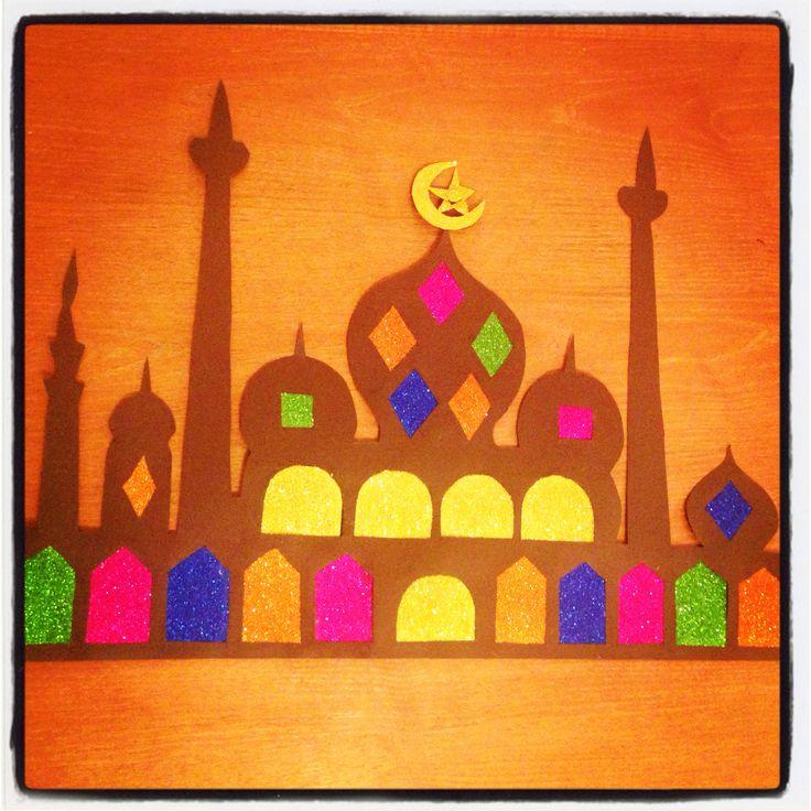 Ramadan decoration craft mosque