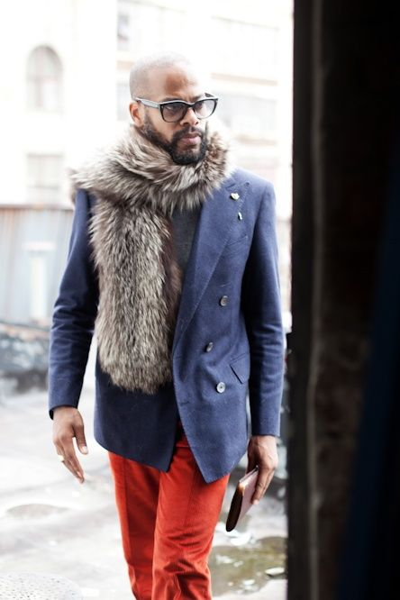 I want his fur. #style #winterstyle #menswear
