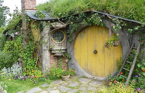 A charming hobbit house is not just a hole in the ground!