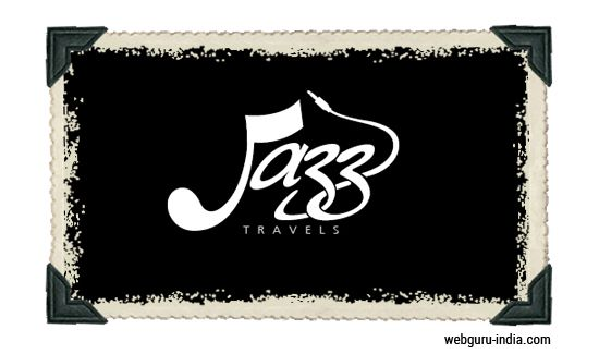 Jazz Travels Logo - Scrip Font  Learn more ► http://www.webguru-india.com/blog/top-8-trends-of-logo-design-in-2015/