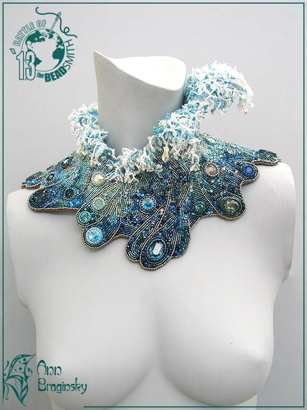 "via Ann Braginsky Tenth Wave (Девятый вал) ""In this necklace I have tried to show the strength and beauty of the sea."" Wow I wish I had half of her talent and creativity."