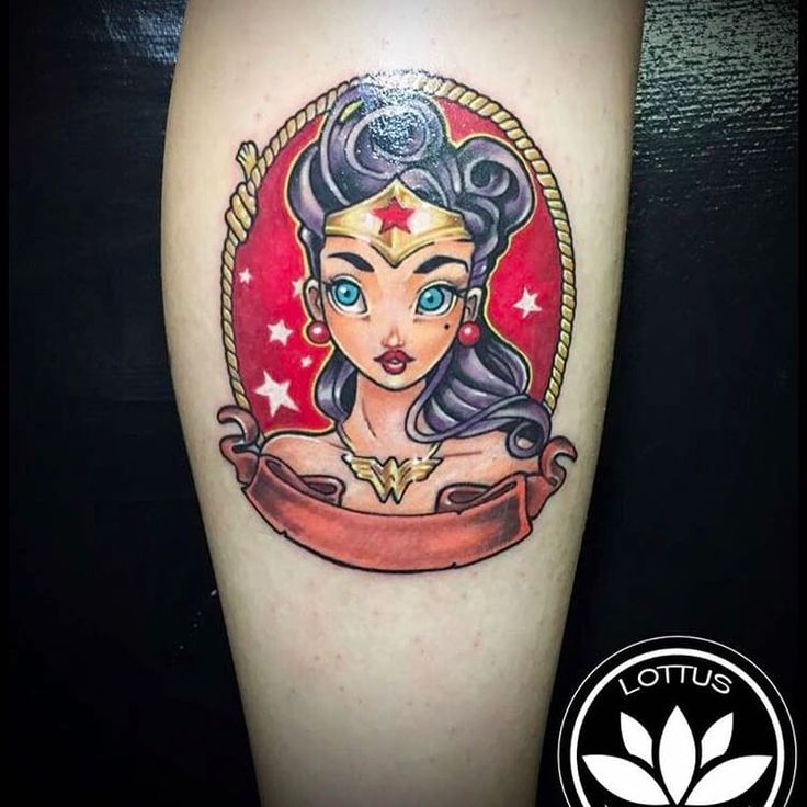 30 best 30 amazing wonder woman tattoos images on for Tattooed wonder woman