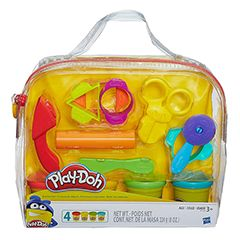 Play-Doh Starter Set and over 7,500 other quality toys at Fat Brain Toys. Whether it's your first Play-Doh experience or your millionth, sometimes a basic set of tools is all you need to jump-start your imagination. Cut, stamp, roll, and more with classic colors and accessories for lots of open-ended creative play. Best of all, this creativity kit comes in a great reusable storage tote that's perfect to take on the go!