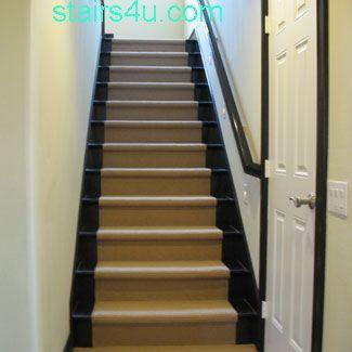 Dark Stairs With Sisal/jute Runner. Not Sure I Love.