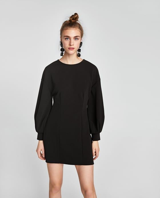 04837fde Puff Sleeve #Dress | Zara | The LBD | Dresses, Cool outfits, New dress