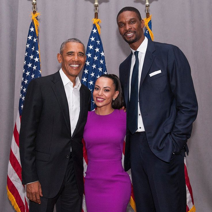 Chris Bosh and Wife with President Obama