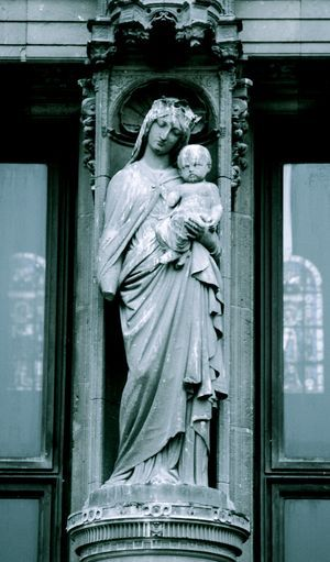 French Madonna and child