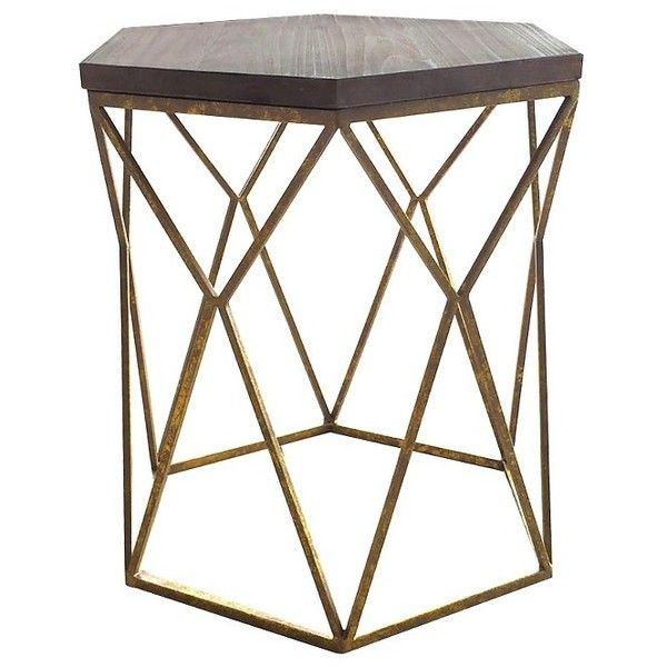 threshold hexagon accent table couch end table