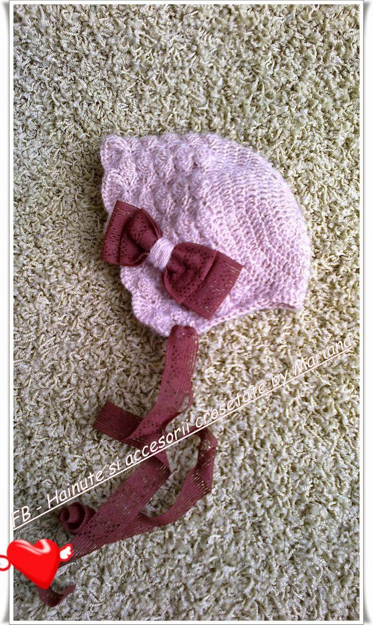 Hainute si accesorii crosetate by Mariana: Boneta