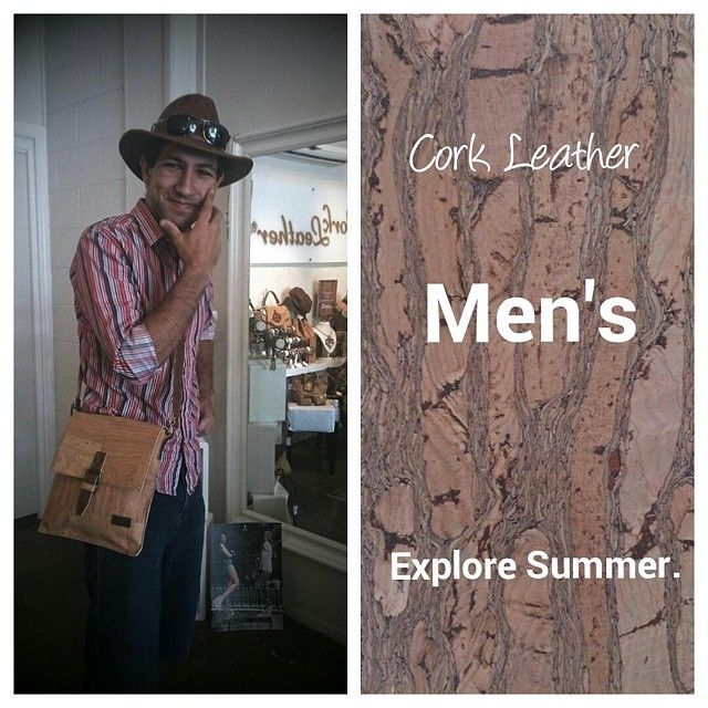 """#Men's #fashion. Don't be weighed down this #summer choose #cork find these items at @corkleather  #corkleather #veganleather #eco #Indianajones  #sustainable choice  #man #men #veganfashion http://www.corkleather.com.au/product-p/fas-0007.htm  http://www.corkleather.com.au/product-p/bag-0042.htm"" Photo taken by @corkleather on Instagram"