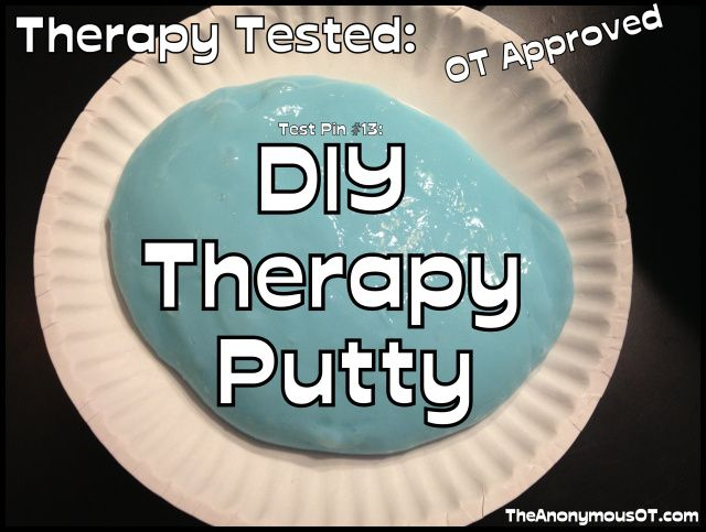 DIY Therapy Putty 1