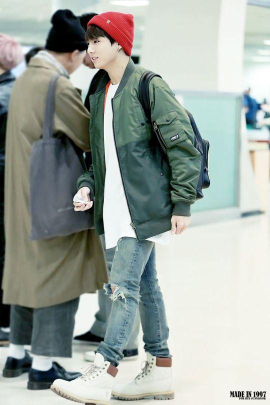 BTS Jungkook   Kpop Fashion   Pinterest   Bts jungkook BTS and Airport fashion