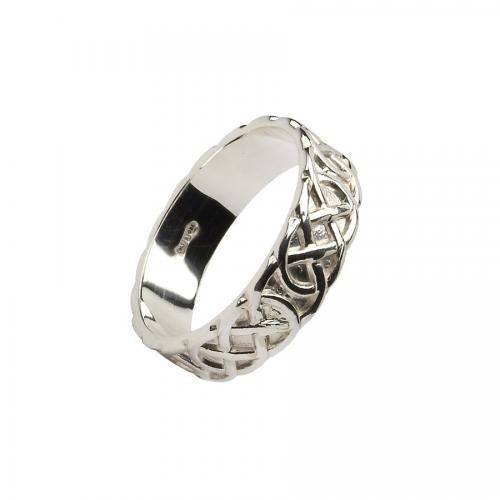 Ben Bulbin Knot Wedding Ring- Silver