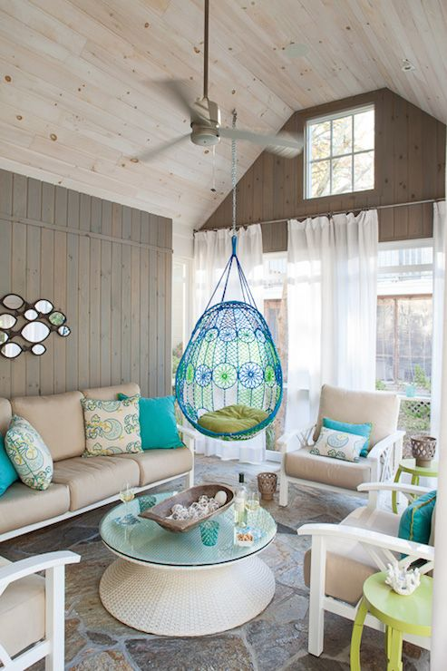Hanging Chairs for Patios, Transitional, #deck/#patio, Liz Levin Interiors | #outdoor_living_space