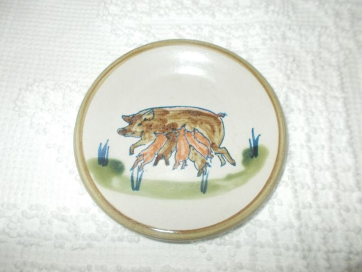 Louisville Stoneware Small Plate Mother Sow Pig with Baby Piglets  #LouisvilleStoneware