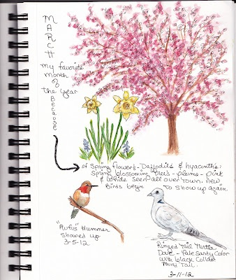 beautiful nature journal page