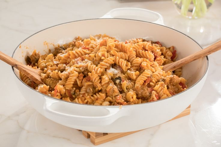 Sausage and Eggplant Fusilli - via Giadzy